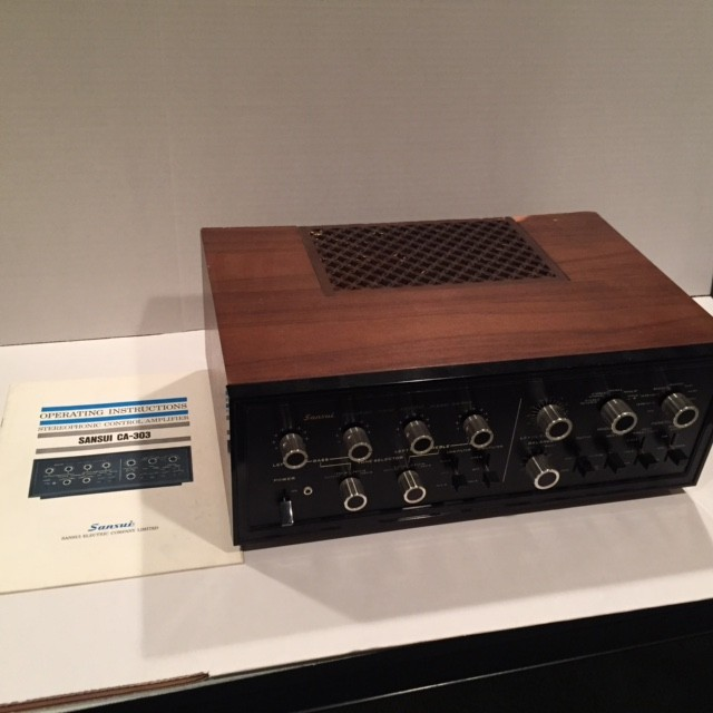 CA 303, Sansui's ultimate and final tube pre-amp.